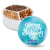 Deluxe Mix Happy Birthday Tin-Greek Letters - One Color