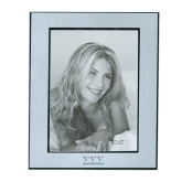 Silver Two Tone 8 x 10 Photo Frame-Greek Letters - One Color Engraved