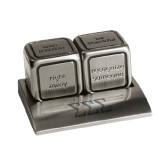 Icon Action Dice-Greek Letters - One Color Engraved
