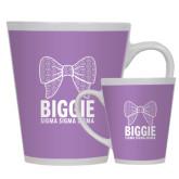 Full Color Latte Mug 12oz-Biggie Bow