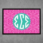 Full Color Indoor Floor Mat-Pink India Pattern