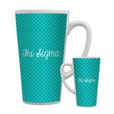 Full Color Latte Mug 17oz-Seaglass Dot Pattern