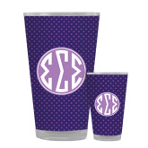 Full Color Glass 17oz-Dot Pattern Sorority Colors