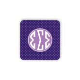 Hardboard Coaster w/Cork Backing-Dot Pattern Sorority Colors