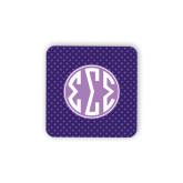 Hardboard Coaster w/Cork Backing-Dot Pattern Sorority Colors