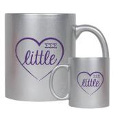 Full Color Silver Metallic Mug 11oz-Little in Heart