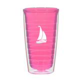 16oz Pink Tritan Double Wall Tumbler-Sailboat