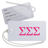 Luggage Tag-Greek Letters - One Color