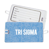 Luggage Tag-Blue Lace Pattern