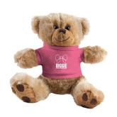 Plush Big Paw 8 1/2 inch Brown Bear w/Pink Shirt-Biggie Bow