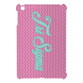 iPad Mini Case-Pink Chevron Pattern