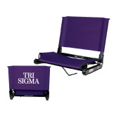 Stadium Chair Purple-Tri Sigma Stacked - Official