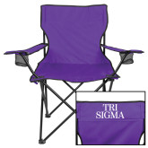 Deluxe Purple Captains Chair-Tri Sigma Stacked - Official