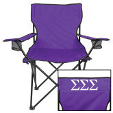 Deluxe Purple Captains Chair-Greek Letters - One Color