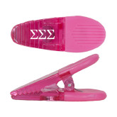 Pink Crocodile Clip/Magnet-Greek Letters - One Color