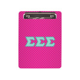 6 x 9 Mini Clipboard-Pink Dot Pattern