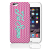 iPhone 6 Plus Phone Case-Pink Chevron Pattern
