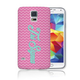 Galaxy S5 Phone Case-Pink Chevron Pattern