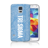 Galaxy S5 Phone Case-Blue Lace Pattern
