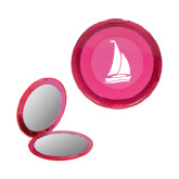 Pink Round Compact With 2x Magnifier Mirror-Sailboat