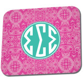 Full Color Mousepad-Pink India Pattern