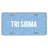 License Plate-Blue Lace Pattern