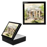 Ebony Black Accessory Box With 6 x 6 Tile-Mable Lee Walton Museum