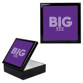 Ebony Black Accessory Box With 6 x 6 Tile-Block Letters w/ Pattern Big