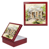 Red Mahogany Accessory Box With 6 x 6 Tile-Mable Lee Walton Museum
