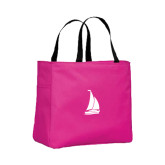 Tropical Pink Essential Tote-Sailboat