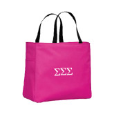 Tropical Pink Essential Tote-Greek Letters - One Color