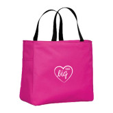 Tropical Pink Essential Tote-Big in Heart