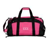 Tropical Pink Gym Bag-Greek Letters - One Color