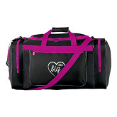 Black With Pink Gear Bag-Big in Heart