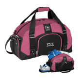 Ogio Pink Big Dome Bag-Greek Letters - One Color