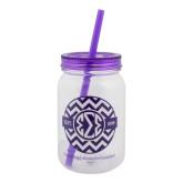 Clear/Purple Mason Jar Tumbler-
