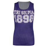 Purple/White 1989 Mesh Jersey-