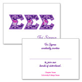 Personalized Folded Bid Card 7 x 5 w/ Envelope-