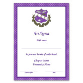 Personalized Bid Card 7 x 5 w/ Envelope-