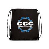 Black Drawstring Backpack-CCC Parts Company