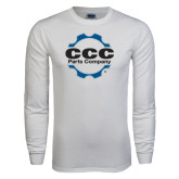 White Long Sleeve T Shirt-CCC Parts Company