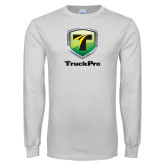 White Long Sleeve T Shirt-Truck Pro