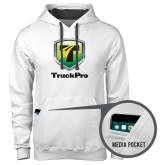 Contemporary Sofspun White Hoodie-Truck Pro