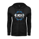 ENZA Ladies Black Fleece Full Zip Hoodie-CCC Parts Company