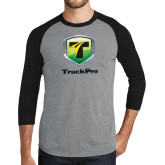 Grey/Black Tri Blend Baseball Raglan-Truck Pro