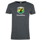 Ladies Dark Heather T Shirt-Truck Pro