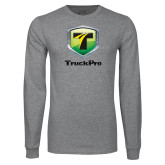 Grey Long Sleeve T Shirt-Truck Pro