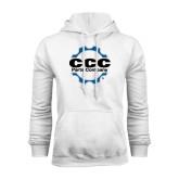 White Fleece Hoodie-CCC Parts Company