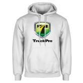 White Fleece Hoodie-Truck Pro