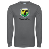 Charcoal Long Sleeve T Shirt-Truck Pro
